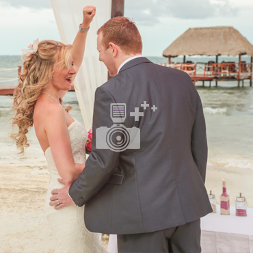 Wedding photos in cancun