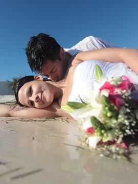 Trash the dress in Playa del Carmen